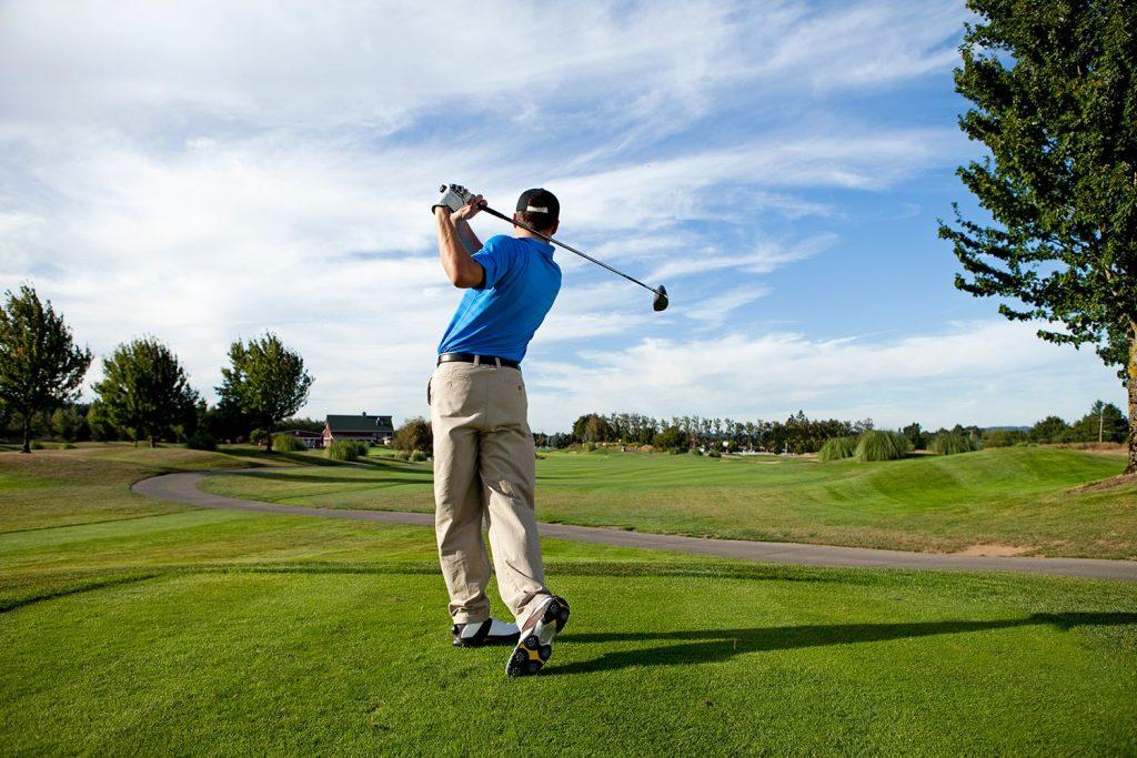 Golfers improve your torso rotation