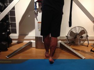 Eccentric heel drop exercise