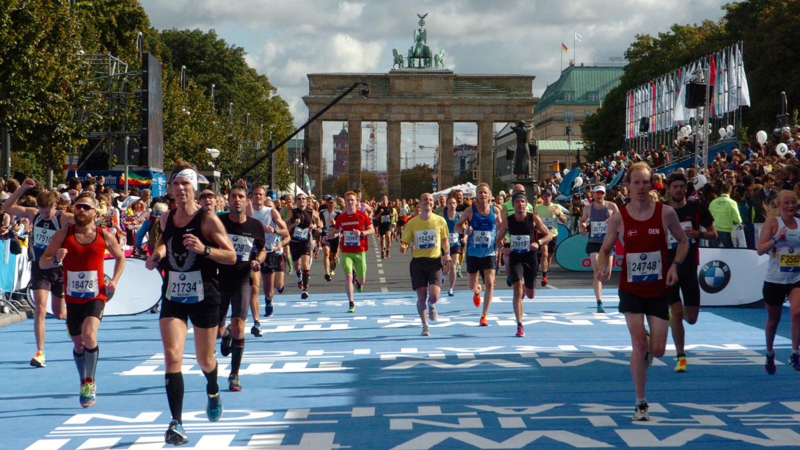 Berlin marathon finish line