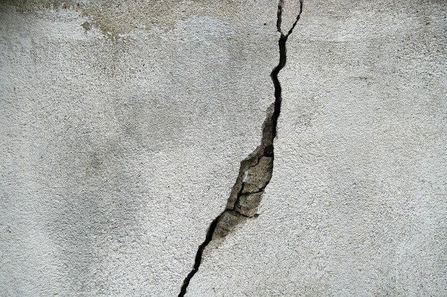 Cracks in a building