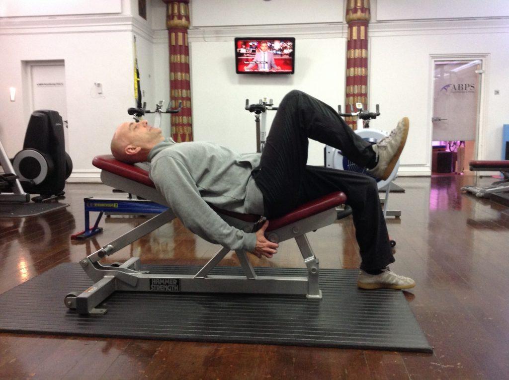 Hip flexion exercise
