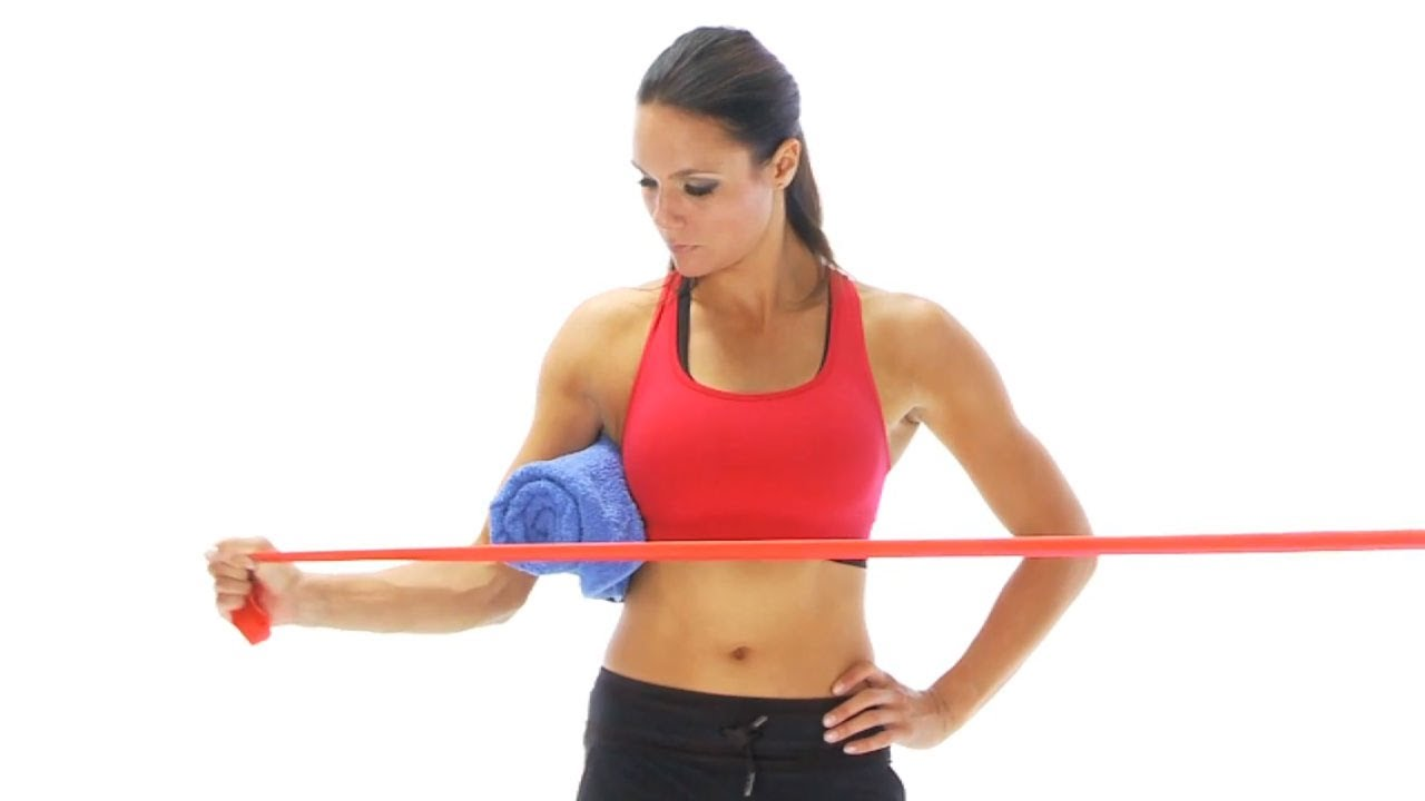 Resistance band exercises for shoulder injury rehab