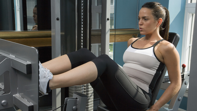 how to set up the leg press machine