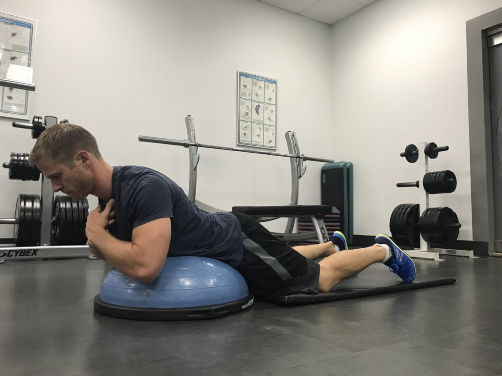 Lumbar spine extension exercise for golf