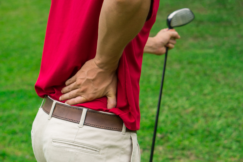 Exercises to prevent lower back pain from golf.