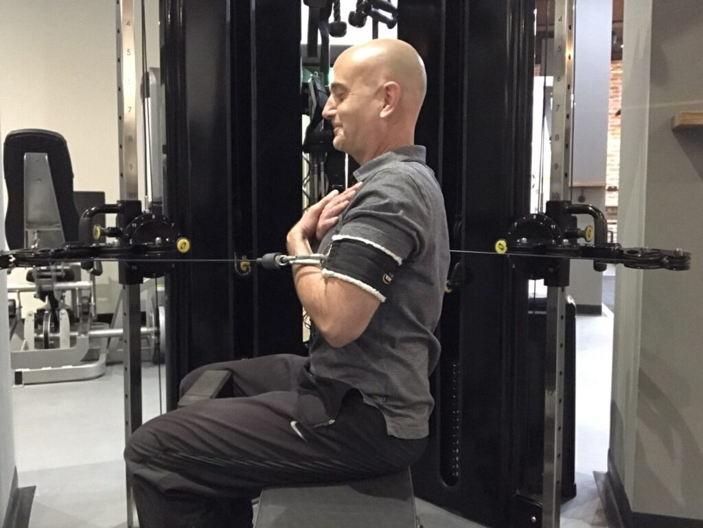 Trunk rotation exercise for golf