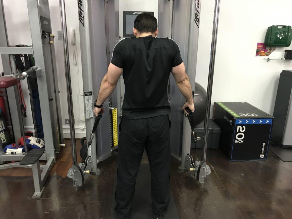 Shoulder elevation exercise