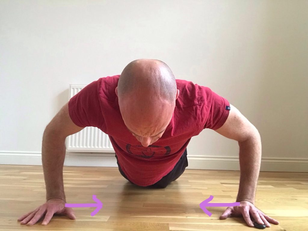 Push up to increase pec major activation