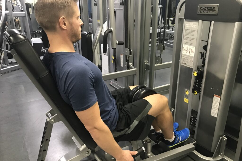 Hip adductor machine