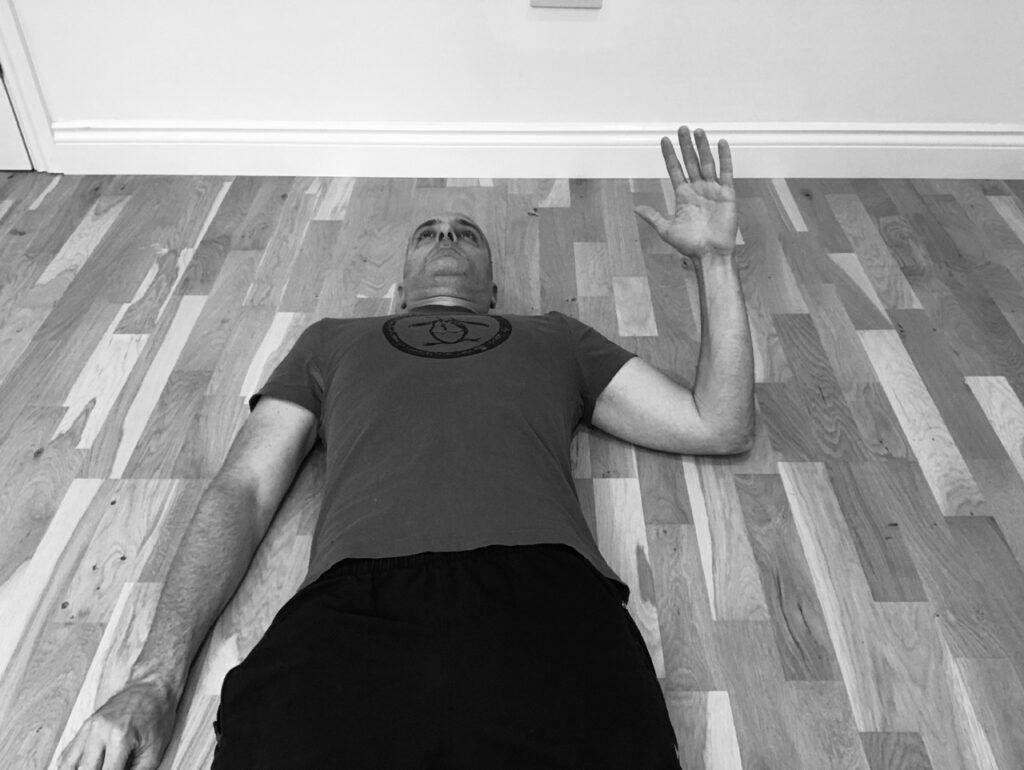 Shoulder joint abduction range of motion assessment